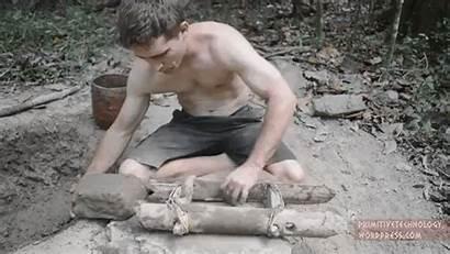 Mud Bricks Primitive Technology Wild Using Brick