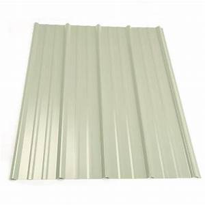 metal sales 8 ft classic rib steel roof panel in white With 20 ft corrugated metal roofing