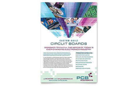 high tech manufacturing flyer template design