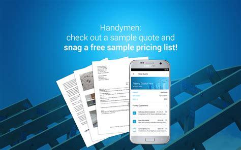 handyman invoice billing  estimating app jobflex