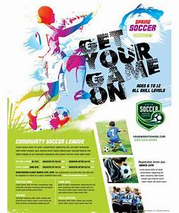 magnificent sports poster templates pictures inspiration With youth sports photography templates