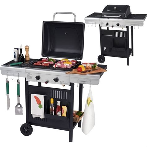 barbecue gaz 2 feux plancha grill achat vente barbecue barbecue gaz 2 feux soldes d