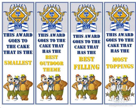 cub scout cake award categories