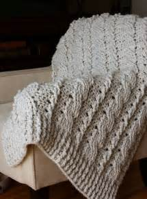 Chunky Cable Crochet Blanket Pattern