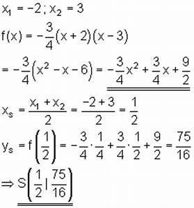 Nullstellen Einer Parabel Berechnen : achsenschnittpunkte p q formel und linearfaktoren mathe brinkmann ~ Themetempest.com Abrechnung