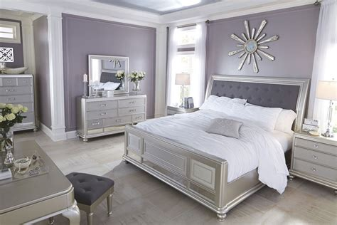 silver bedroom set coralayne silver bedroom set b650 157 54 96 furniture