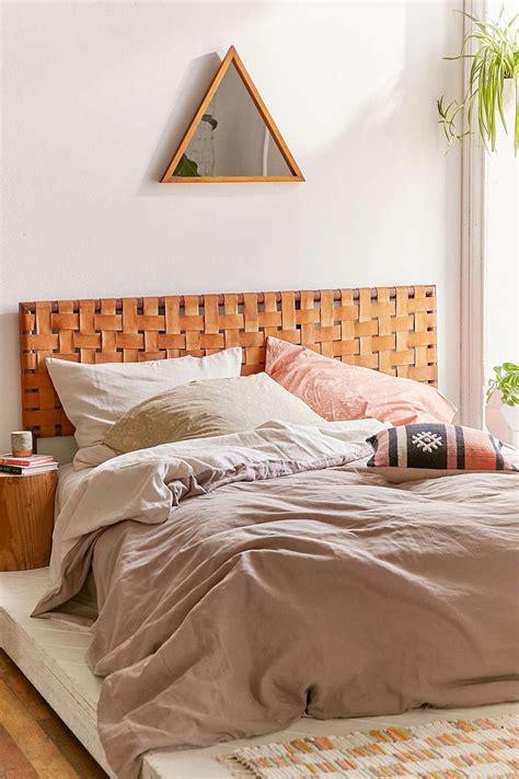 alda woven leather headboard bedroom bedroom decor