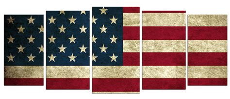 american flag canvas wall american flag 5 panel canvas wall 7434