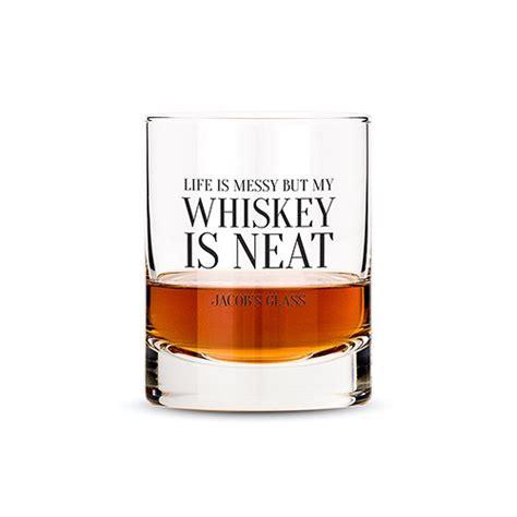 whiskey neat wedding party personalised whisky glasses confetti co uk