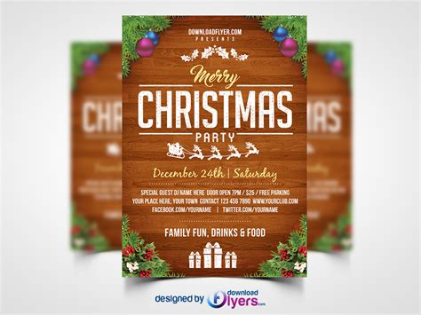 christmas templates freebies christmas party flyer template 187 templates files