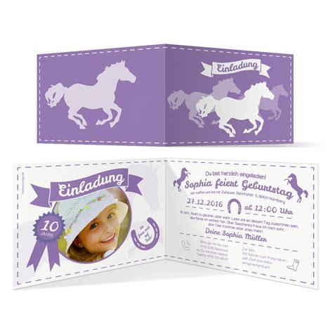 einladungskarten kindergeburtstag pferde