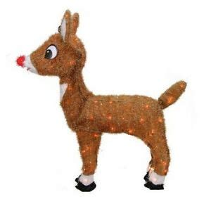Rudolph Outdoor Decorations - outdoor decorations rudolph nosed reindeer