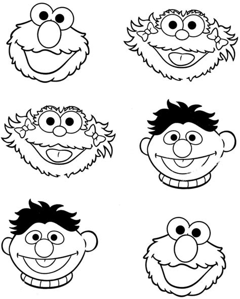 Ernie Face Coloring Pages
