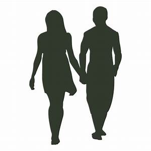 Couple walking silhouette - Transparent PNG & SVG vector