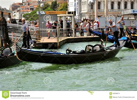 Venice City With Old Buildings And Gondola Italy