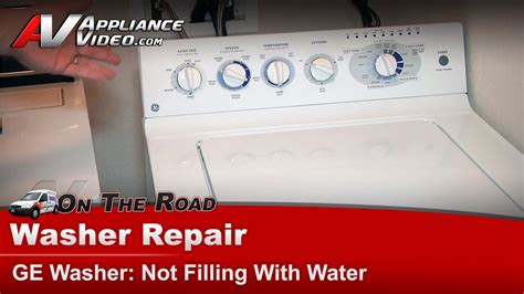 Ge, Hotpoint, Rca Washer Repair  Not Filling With Water