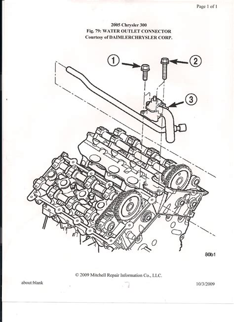 2005 300c Hemi Engine Diagram by What To Do If Chrysler Water Outlet Housing Is Leaking