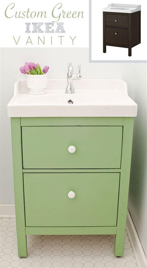 green ikea custom bathroom vanity blogger home projects