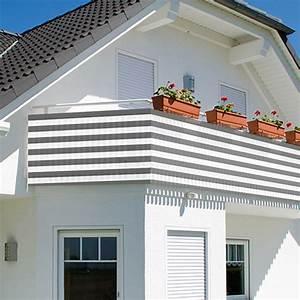 Sichtschutz Balkon Weiß : balkon sichtschutz 500x90cm balkonsichtschutz windschutz balkonverkleidung neu ~ Markanthonyermac.com Haus und Dekorationen