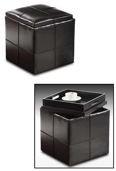 cube ottoman with tray modern contemporary cube ottoman with storage tray small