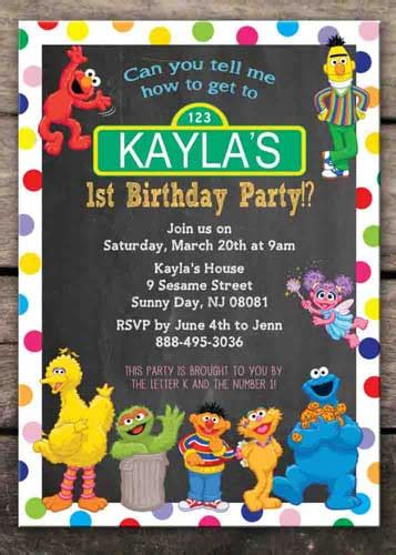 sesame invitations template 100 sesame birthday ideas by a professional planner