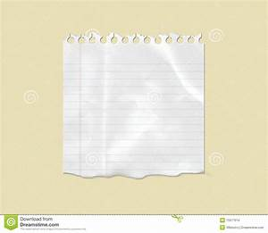 White Torn Lined Note Paper Stock Images - Image: 15977614