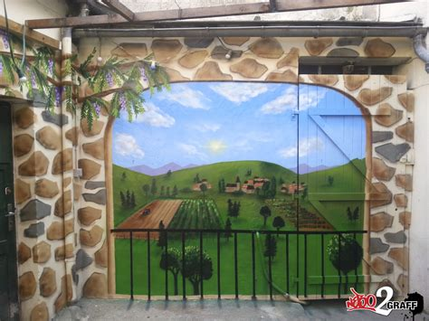 peinture trompe l oeil fresue murale graffiti graffeur d 233 co ext 233 rieur terrasse jardin