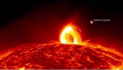 Space Sun Rain Plasma Solar Rains Way