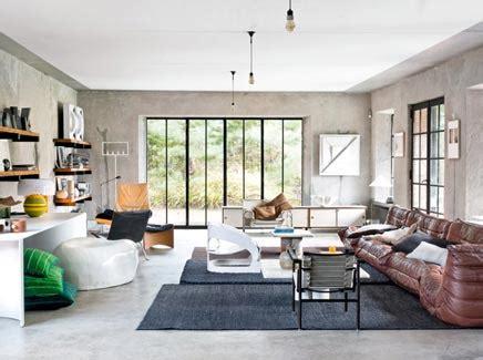 canapé contemporain ligne roset vintage en industriële woonboerderij inrichting huis com