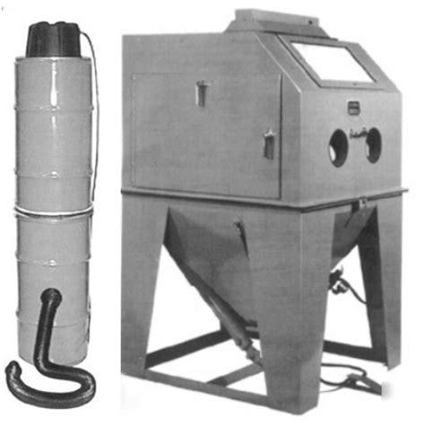 econoline blast cabinet dust collector 48 x 48 sandblasting cabinet 100 cfm dust collector