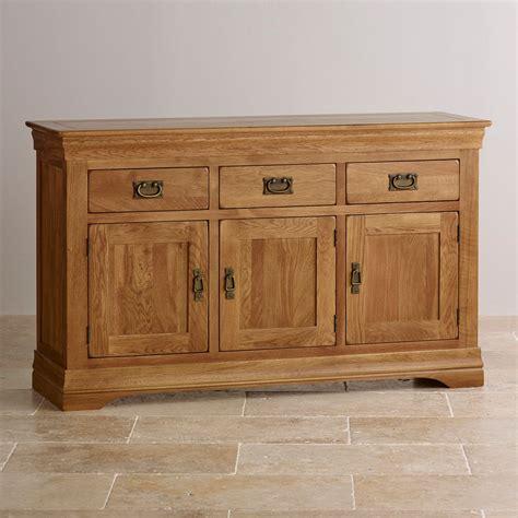 Oak Sideboard Furniture by Farmhouse Large Sideboard In Rustic Solid Oak