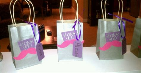 pink mustache goodie bags