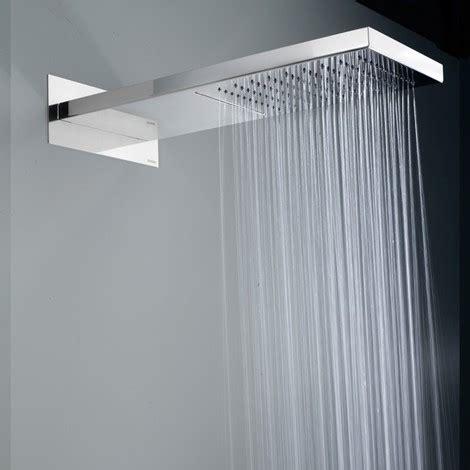 soffione doccia a cascata soffione doccia bossini manhattan in acciaio con pioggia e