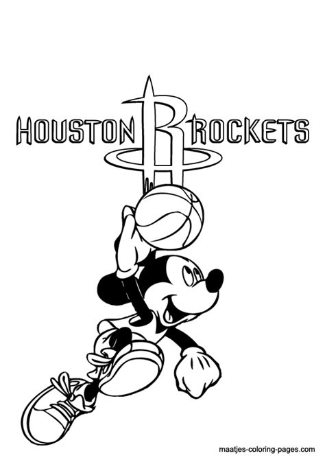pics  houston rockets basketball logo coloring page