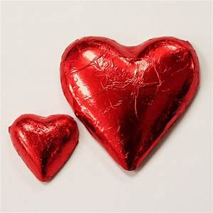 Milk Chocolate Hearts Red Foil – Donovans Chocolates