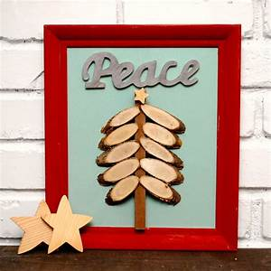 here area few more of my favorite holiday crafts from the With best brand of paint for kitchen cabinets with christmas tree wall art