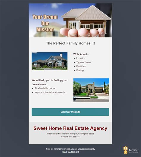 Real Estate Templates Feature Packed 10 Free Real Estate Email Templates Mailget