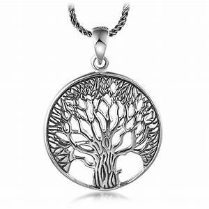 pendentif homme rond arbre de vie cisele en argent 925 With bijoux en argent 925