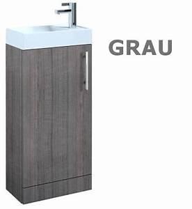 Weißer Hochglanz Schrank : badm bel set waschbecken schrank waschtisch wei grau wenge 40 cm breit tom ebay ~ Indierocktalk.com Haus und Dekorationen