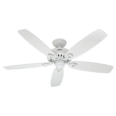white flush mount ceiling fan shop hunter markham 52 in snow white downrod or flush