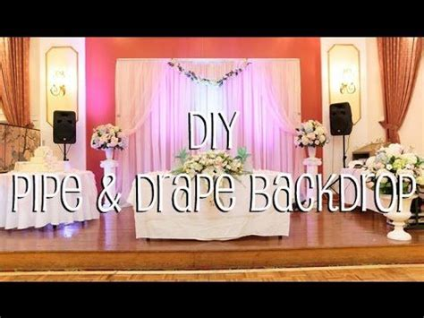 learn how to setup do it yourself pipe drape backdrop in