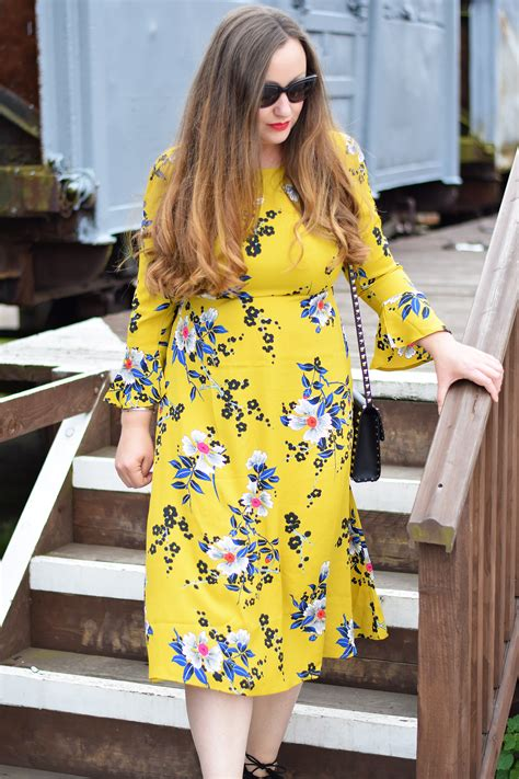 mustard floral midi dress jacquardflower