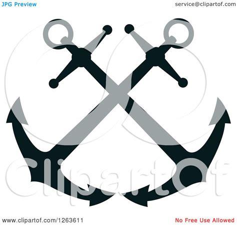 clipart   nautical navy blue anchor royalty