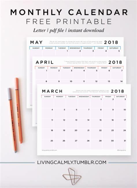 monthly printable tumblr