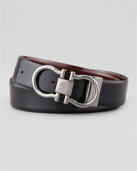 Ferragamo Reversible Gancini Belt in Black for Men