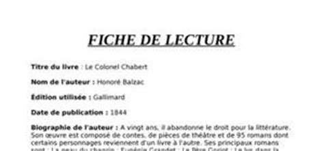 Candide Resume Detaille by Exemple Fiche De Lecture 2nd Document