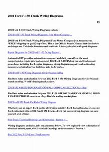 Download 2002 Ford F 150 Truck Wiring Diagrams Pdf Ebooks