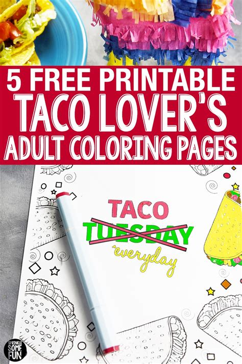 funny taco quotes coloring pages sprinkle  fun