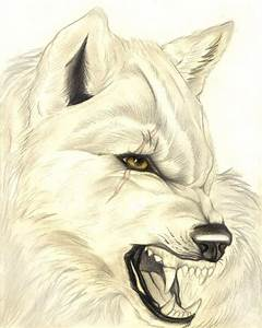 Realistic Snarling Wolf by FallenAngelWolf13 on DeviantArt