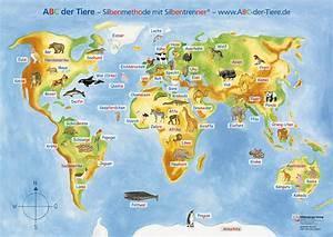 Weltkarte Kontinente Kinder : mildenberger verlag gmbh abc der tiere 1 poster zu den ankertieren ~ A.2002-acura-tl-radio.info Haus und Dekorationen